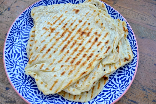 homemade flatbread - from the Honey & Co. Cookbook